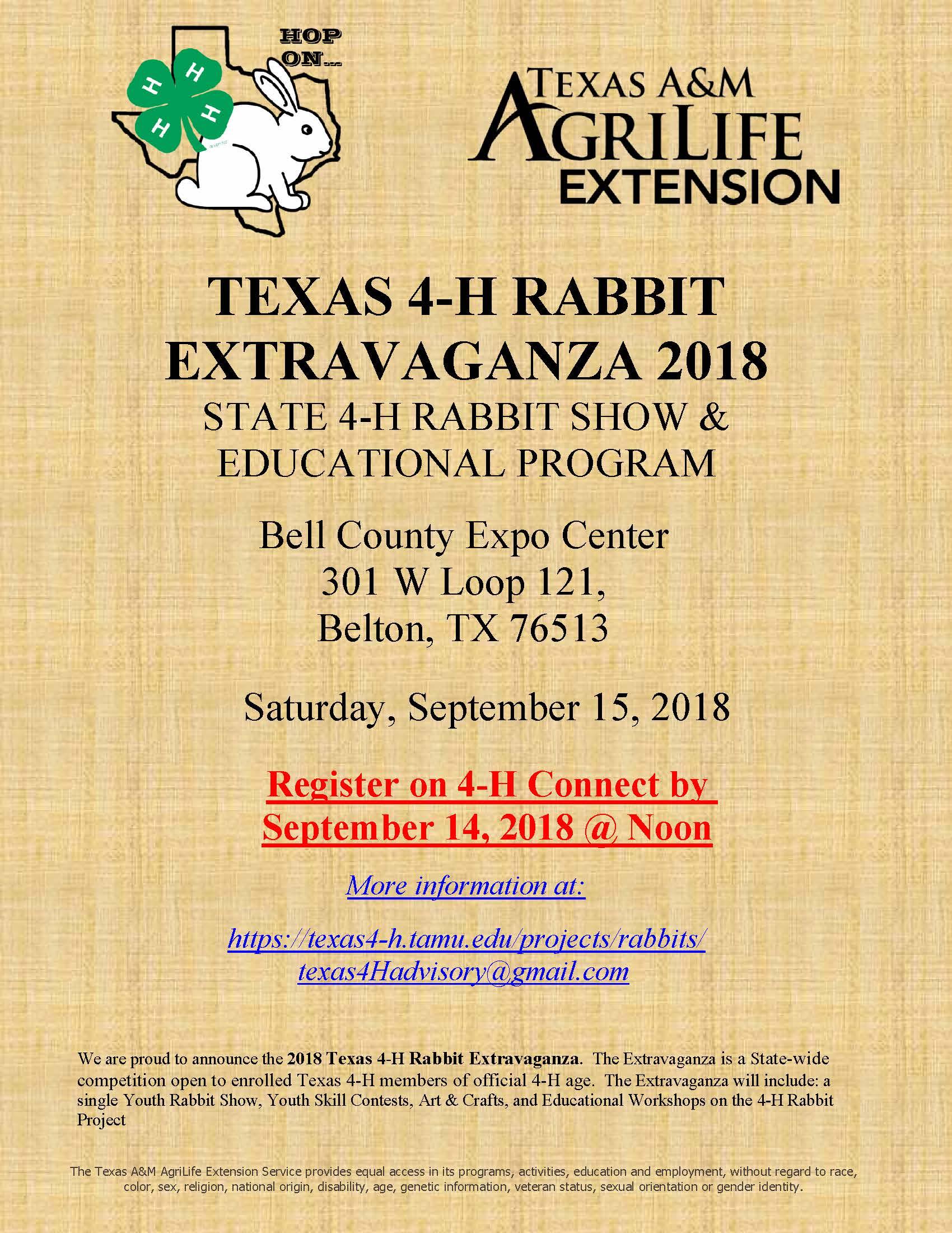 Texas 4 H Rabbit Extravaganza