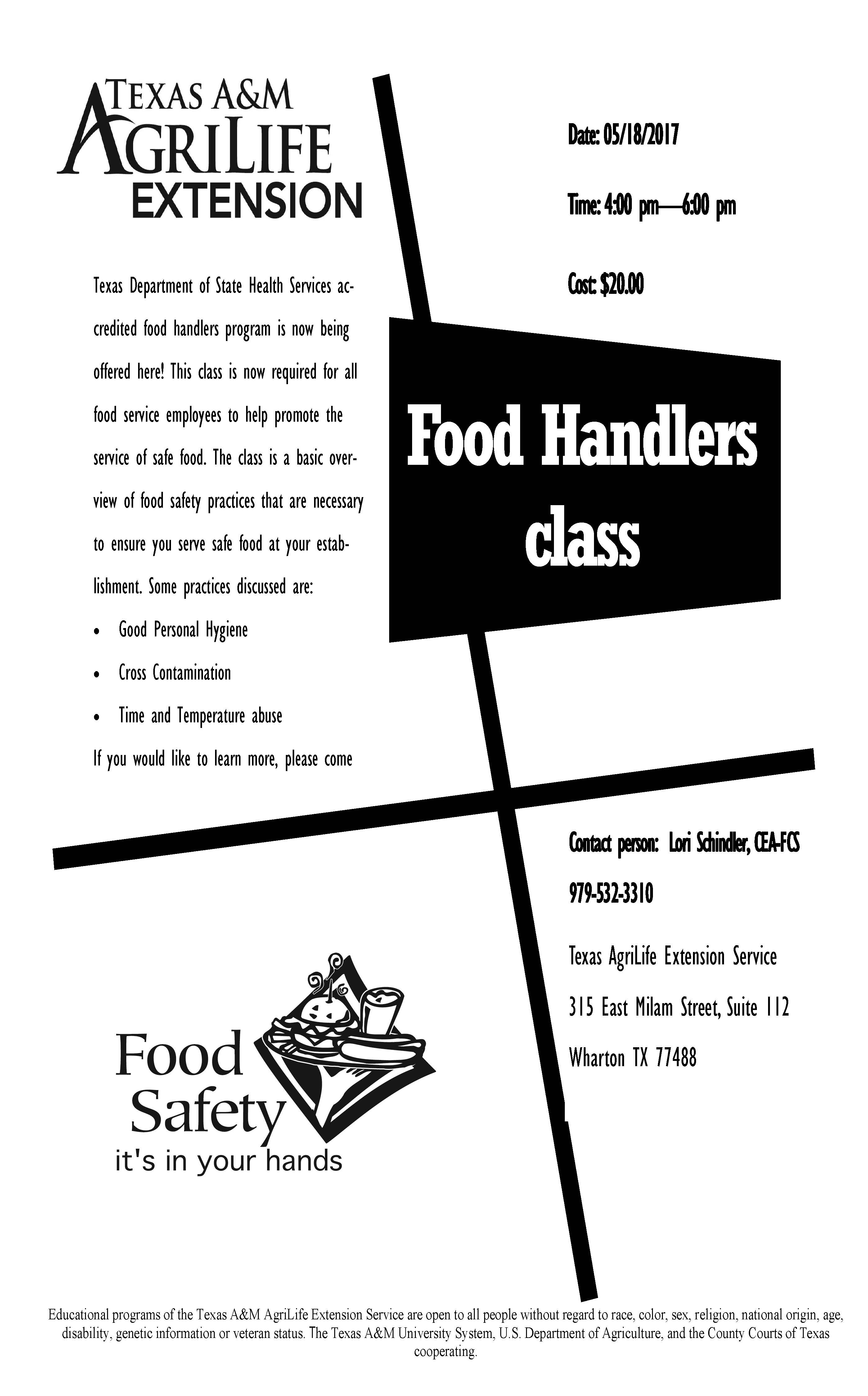 Food Handlers Class