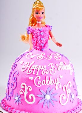Barbie Cake Counting Candles