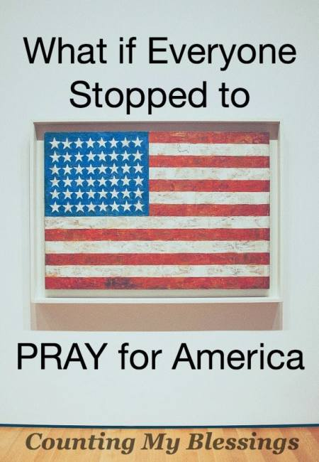 Our country needs prayer more than ever. Please join me as I P.R.A.Y. for America.
