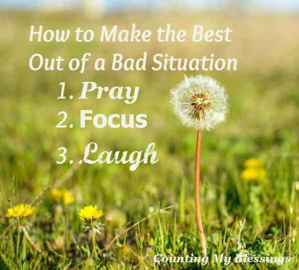 Guest post from Dr. Mel Wilson, who will tell you how to make the best of a bad situation. 3 important things you need to know...