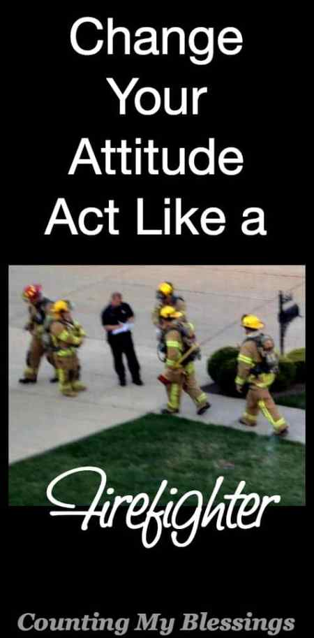 We're used to thinking of firefighters running into burning buildings when others are running out. But I was touched by their humble act of service...