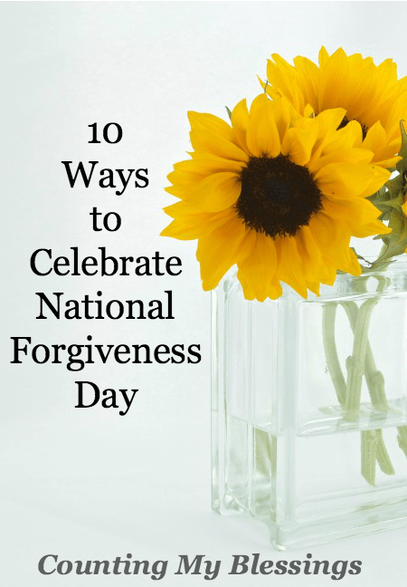 National Forgiveness Day is not just a faith or religious holiday. The need to forgive and be forgiven is a human condition which affects everyone.