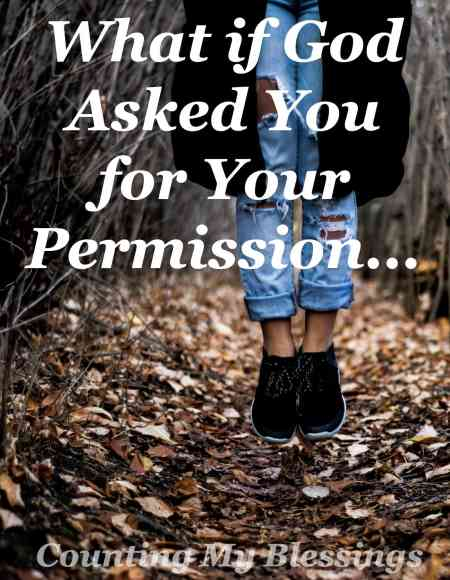 """If God asked you for permission before He allowed your life to get painful and messy, I imagine like me, you would quickly reply, """"I don't want to!"""""""