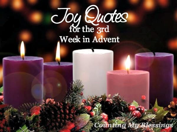 Joy quotes and verses to help you prepare for Christmas. Which is your favorite