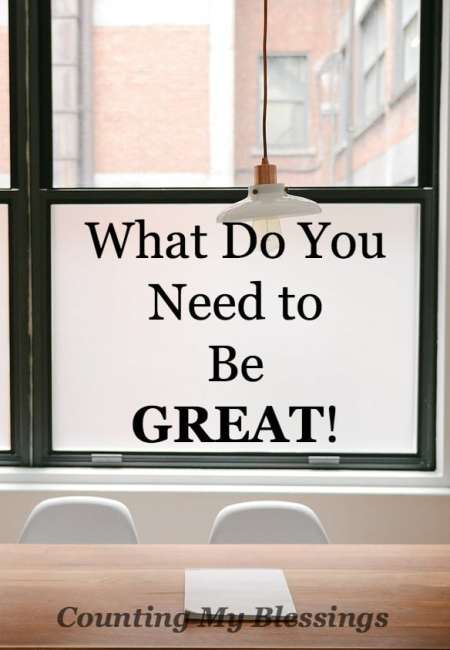 Are you great? Do you want to be? What does it take? Here's a list of important truths that promise to help you be great the person you were created to be!