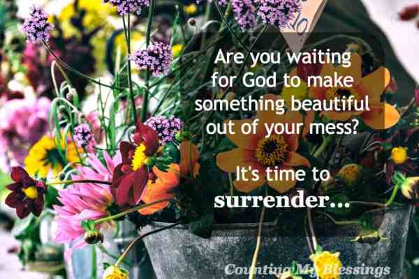 Isaiah 61:3 is the promise that God will give beauty for ashes to those who look to Him. Surrender your mess and celebrate God's beauty.