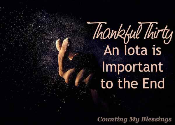 How important is an iota Very important. Seriously, an iota has life-changing importance. Read this to find out why...