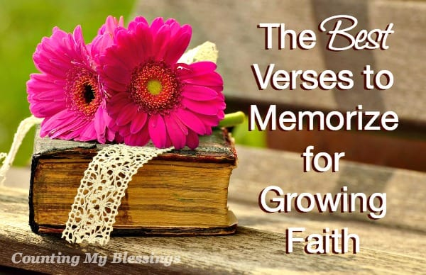 As part of The Faith Project and a deeper look at wisdom, here are 25 verses to memorize that will help you grow in faith and wisdom.