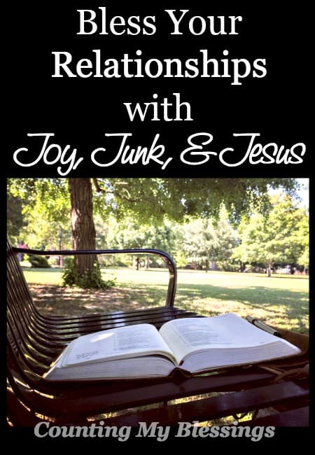 What gave you joy this week? What's the junk that's making you anxious? Where did you see Jesus? 3 simple questions that will bless your relationships.