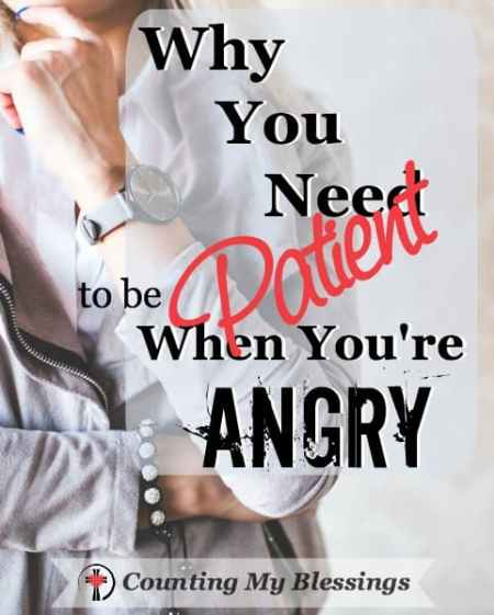 Getting angry is normal. Getting even is a choice. If you want to improve the situation with and heal quickly you need to be patient when you are angry.