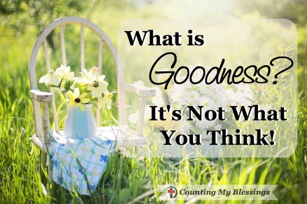 Goodness and obedience are not synonyms. So, what exactly is goodness?