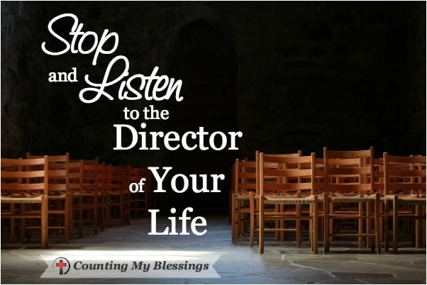 Who's directing your life? Are you listening? #TheFaithProject #Blessings