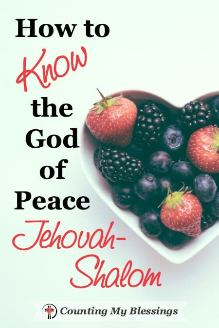The Hebrew word shalom is translated as peace, but it so much more than that. God is Jehovah-Shalom. The One who makes you complete, perfect, and full.