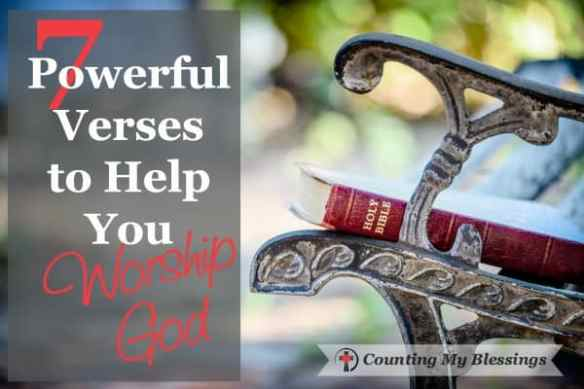 24/7 worship comes from a completely surrendered and thankful life. These 7 Scriptures will help you worship when life makes the words hard to find.