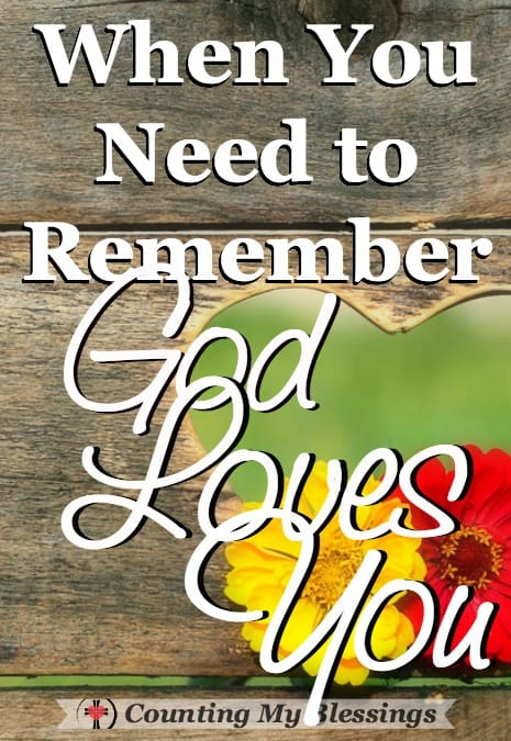 Why do you worship? God loves. It is who He is and what He does. If you don't feel lovable - these verses will help you remember how much God loves you.