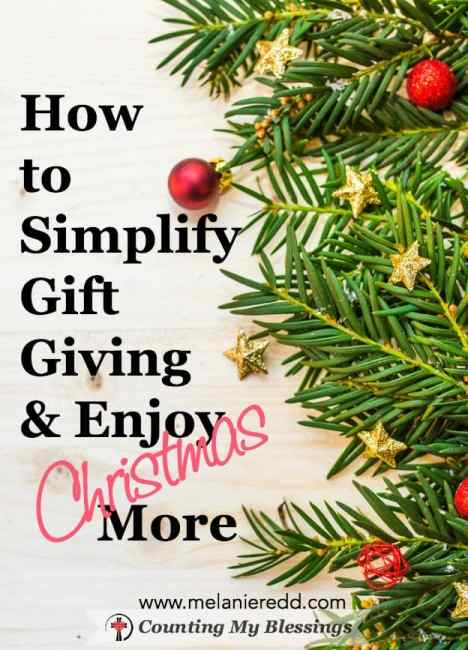 Here is a simplified way of gift giving that will bless your family and point them to the ultimate Gift-giver. Are you ready to enjoy Christmas more?