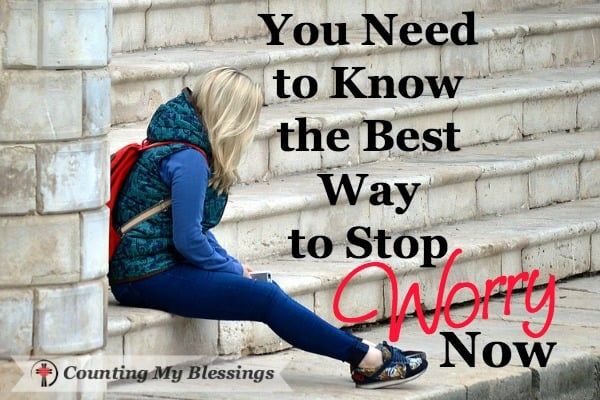 I can't tell you how many nights I spent wide awake worrying about everything. So, I want to tell you the best way stop worry now. Are you ready to be worry free?