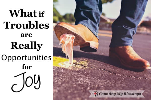 The Bible says our troubles are opportunities for joy. Really?! Troubles don't usually make me joyful. But maybe there's another way to look at it.