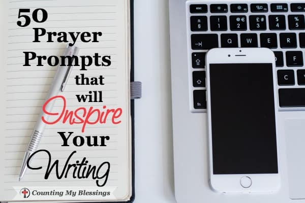 Do you have that blank, what in the world should I write, feeling? Me too! So I wrote 50 Prayer Prompts for blog post ideas or prayer journal inspiration.