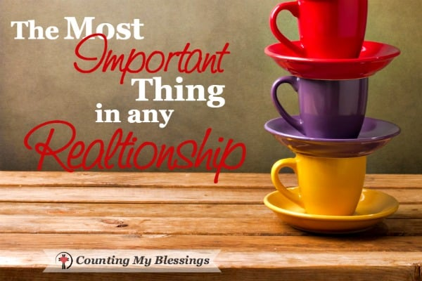What is the most important thing in any relationship? Finances? Trust? Physical attraction? Communication? You might be surprised...