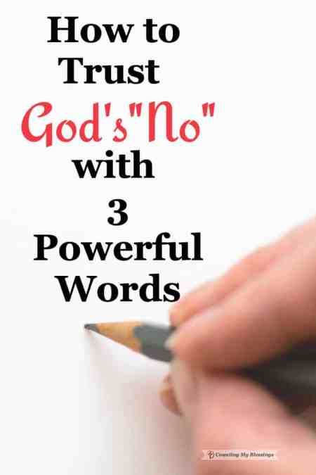 """You've prayed and prayed and God seems silent, now what? How do you trust God when He says """"no"""" to your passionate pleas."""