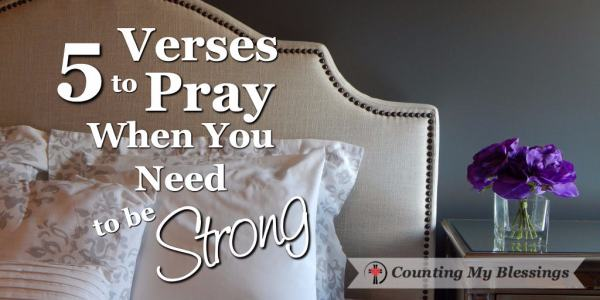 With prayer and God's help, you will be strong enough to do this day.