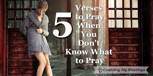 Whether our problems are personal, national, or global ... sometimes it's hard to know what to pray.