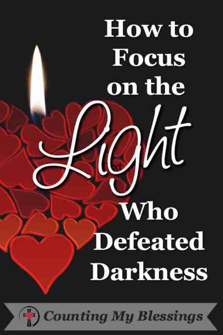 Do you ever feel like the darkness is winning? Me too. But there is good news! Darkness has been defeated. We have been given the Light to prove it! #Jesus #Hope #Light #Blessed