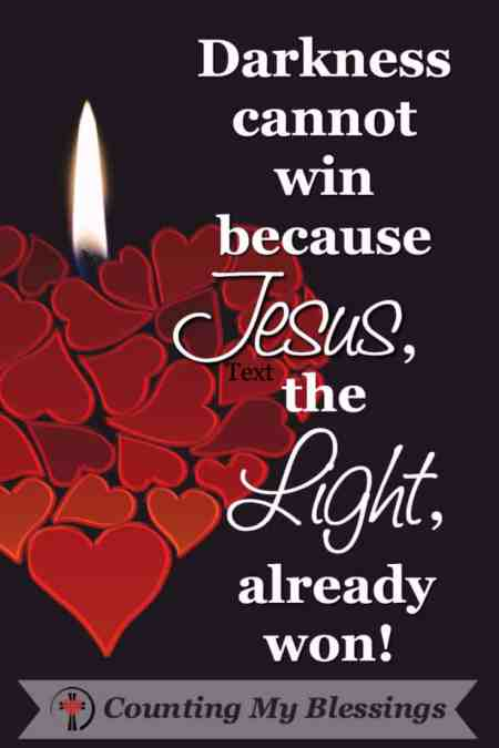How to Focus on the Light Who Defeated Darkness #Jesus #Hope #Blessed #Advent