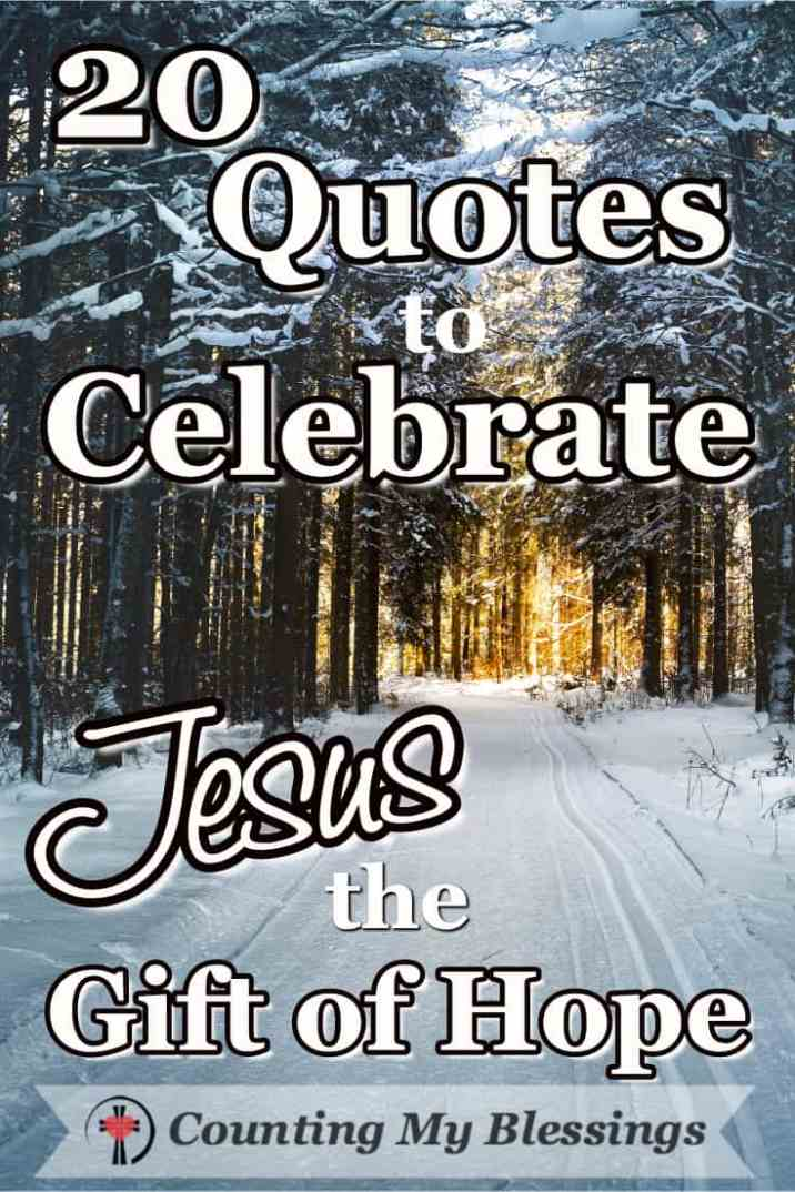 Jesus Christmas Quotes.20 Quotes That Celebrate Jesus The Gift Of Hope Counting