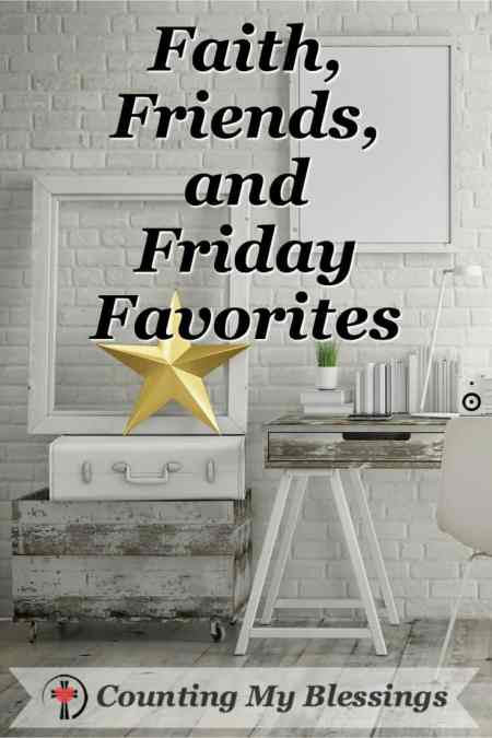 The Blessing of Faith, Friends, and Friday Favorites @ Counting My Blessings by Deb Wolf