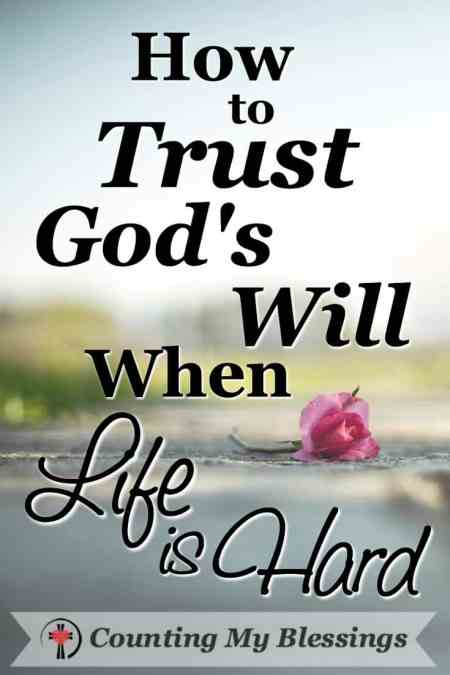 Life is hard! No matter how hard you and I try bad things happen. Here are 10 ways to trust God's will when life is hard. #Seek #BlessingBloggers #CountingMyBlessings