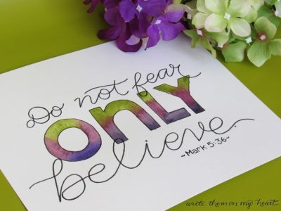 Believing Can Stop Fear? Believing What? by Alyson