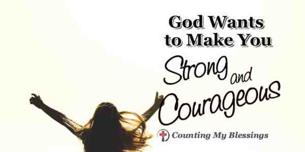 God's unconditional perfect love that gives strength and courage. #SEEK #BlessingBloggers