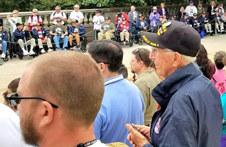 My dad and nephew, Ryan, in Washington DC with Collier Honor Flight for Veterans