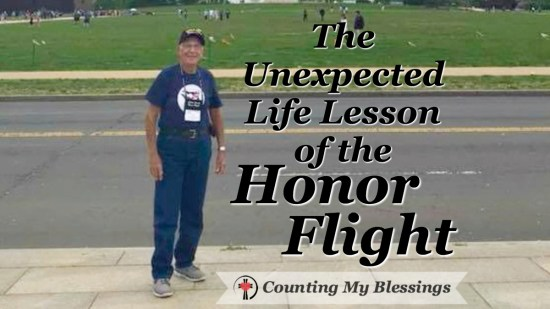 My dad went on an Honor Flight and came home with a powerful life lesson!
