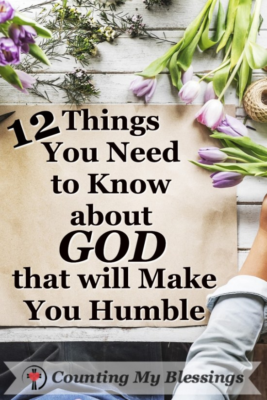 You and I can not only know about God we can know Him and the more we know Him the more humble we are and the more victorious we become. That's Good News!