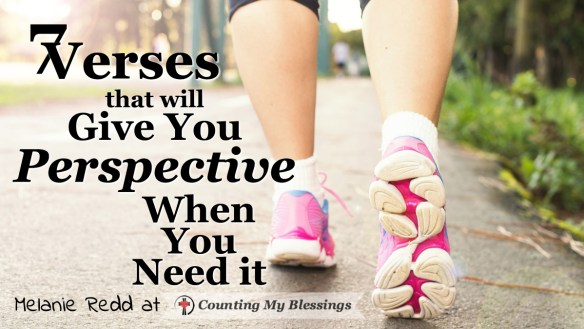 our perspective influences everything - it's the way you look at and live your life. These 7 Bible verses will help you have the right perspective for life.