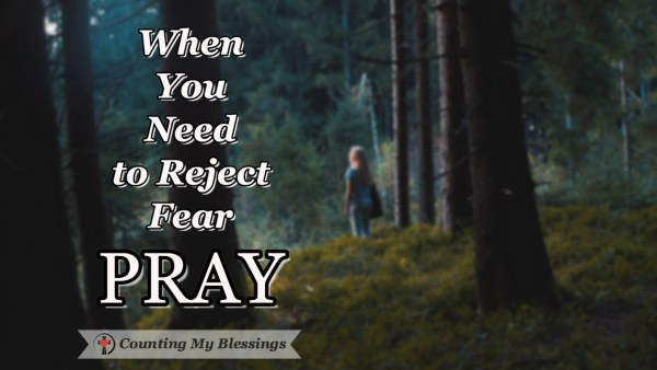 I was afraid and I hated it! I needed help. By grace, I learned to pray! Here are the 5 verses I pray when I need to reject fear. #Fear #CountingMyBlessings #Prayer