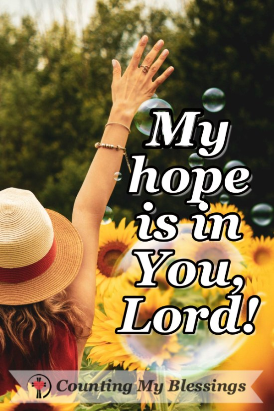 I've learned that even when I struggle to find hope, when I pray the Lord's prayer ... I find new hope and promise in every word. #Blessings #Prayer #Lord'sPrayer #BlessingCounter #Faith