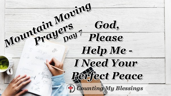 "I can be a worrier. Jesus said, ""Don't worry!"" So, today I'm praying and asking for His help and for the gift of His hard to understand perfect peace. #Peace #Faith #Prayer #MountainMovingPrayer #BlessingCounter"