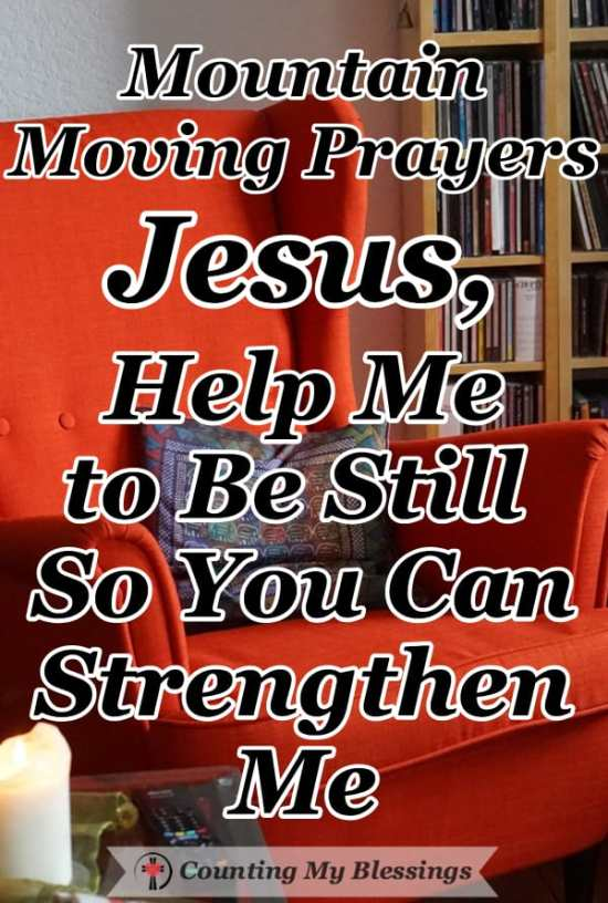 "I'm praying and sitting quietly. Today, I will ""be still"" with the Lord and ask Him to give me strength when I need it most. #Prayer #BibleStudy #Faith #CountingMyBlessings"