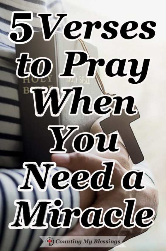 5 Verses to Pray When You Need a Miracle – Counting My Blessings