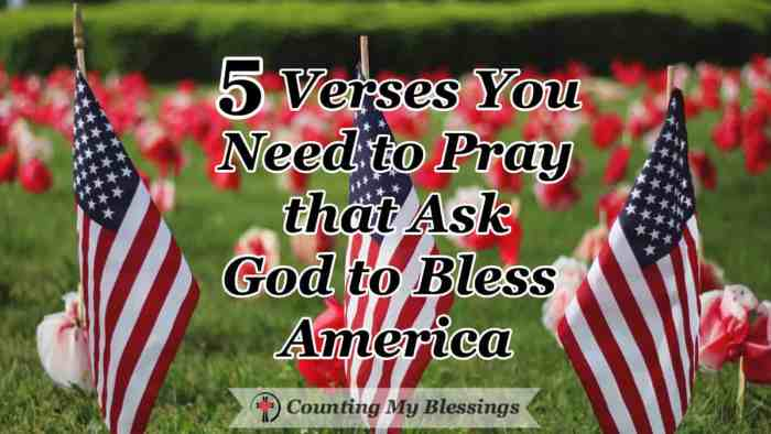 5 Verses You Need to Pray that Ask God to Bless America - The Bible clearly identifies what a nation needs for success. If we want to successfully live in freedom we need to pray and ask God to bless America. #PrayforAmerica #GodblessAmerica #Prayer #Freedom #4thofJuly