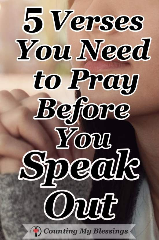 Every day the words we use are either building up or tearing apart our relationships. We need God's help! So, before you speak out...pray! #Prayer #Marriage #Friendship #Relationships