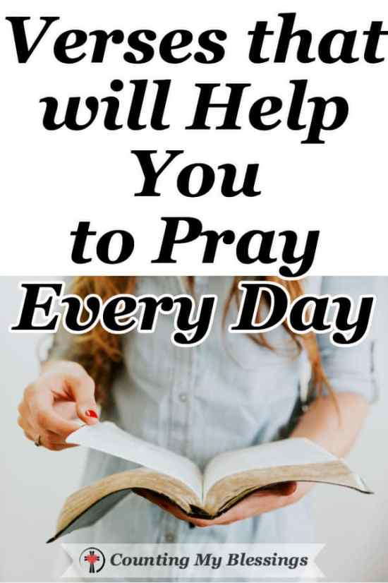 The Bible tells us to never stop praying and pray about everything. These prompts, verses, and prayers that will help you want to pray every day.  #Prayer #Bible #Faith #Blessings
