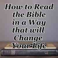 How to Read the Bible in a Way that will Change Your Life