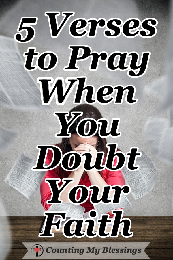 One of satan's favorite temptations beginning in the Garden of Eden is to get you to doubt your faith. So, we're praying the promises of God, thanking Him for His faithfulness even when we doubt. #Faith #Prayer #DoubtFaith #Blessings