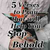 5 Verses to Pray that will Help You Stop and Behold